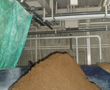 Recycled residue for concrete submaterial